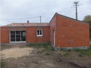 Réalisation gros oeuvre Maison brique toiture